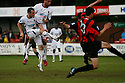 Luke Moore of Wimbledon scores their second goal during the Blue Square Bet Premier match between Histon and AFC Wimbledon at the Glass World Stadium, Histon on 16th April, 2011.© Kevin Coleman 2011.