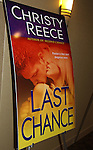 """Author Christy Reece """"Last Chance"""" - poster at Romantic Times Booklovers Annual Convention 2011 - The Book Industry Event of the Year - April 6th to April 10th at the Westin Bonaventure, Los Angeles, California for readers, authors, booksellers, publishers, editors, agents and tomorrow's novelists - the aspiring writers. (Photo by Sue Coflin/Max Photos)"""