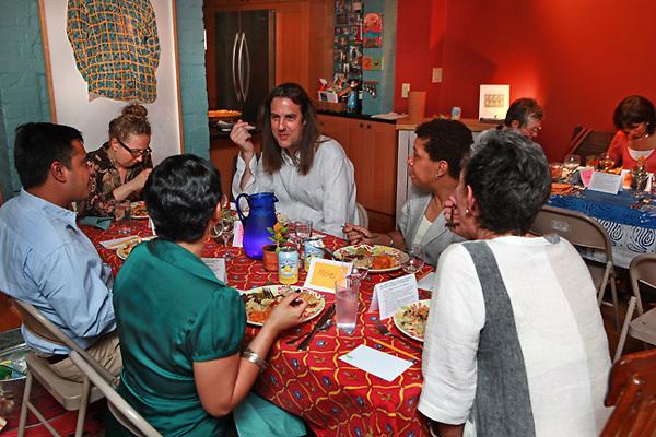(110525RREI0996) Judy Byron's Perfect Girls conversation dinner, Washington DC . May 25, 2011 © Rick Reinhard 2011