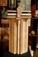 Détail d'une oeuvre Art d'Eglise de l'orfèvre Goudji lors de la visite à son atelier parisien le 12 janvier 2011. Nait en Géorgie en 1941, Goudji vit à Paris depuis 1974 sur intervention personnelle du Président de la République Georges Pompidou, où il produit sa création d'orfèvre contemporain. Ses oeuvres sont innombrables tant en Art d'Eglise, Epées, Bijoux que sculptures diverses.  Detail of a Church Art work of the goldsmith Goudji visiting his Parisian studio, on 12th January 2011. Born in Georgia in 1941, Goudji has lived in Paris since 1974, due to the personal intervention of  President Georges Pompidou.  Here he produces his numerous contemporary works of goldsmithery in  such widely differing fields as Church Art, swords, jewellery and sculpture. Picture by Manuel Cohen - Further clearance required, please contact us