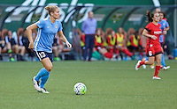 Portland, OR - Saturday July 02, 2016: Kristin Grubka during a regular season National Women's Soccer League (NWSL) match between the Portland Thorns FC and Sky Blue FC at Providence Park.