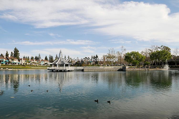 Stock photo of Irvine Lake Irvine California
