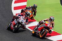 Marc Marquez of Spain and Repsol Honda Team, Scott Redding of Great Britain and OCTO Pramac Racing Team,  rides during free practice for the MotoGP of Catalunya at Circuit de Catalunya on June 9, 2017 in Montmelo, Spain.(ALTERPHOTOS/Rodrigo Jimenez) (NortePhoto.com) (NortePhoto.com)