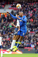 Nadjim Abdou of AFC Wimbledon and Mousa Dembele of Tottenham during Tottenham Hotspur vs AFC Wimbledon, Emirates FA Cup Football at Wembley Stadium on 7th January 2018