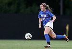 20 September 2012: Duke's Nicole Lipp. The University of Maryland Terrapins played the Duke University Blue Devils to a 2-2 tie after overtime at Koskinen Stadium in Durham, North Carolina in a 2012 NCAA Division I Women's Soccer game.