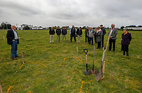 Mike Allen addresses the South Wairarapa Vet Services Clareville Vet Clinic Sod-Turning Ceremony at Carterton, New Zealand on Thursday, 4 August 2017. Photo: Dave Lintott / lintottphoto.co.nz