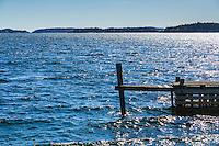 Brygga på Dalarö i Stockholms skärgård. / Stockholms archipelago Sweden.