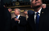 WASHINGTON, DC - JANUARY 30:  U.S. President Donald J. Trump arrives for the State of the Union address in the chamber of the U.S. House of Representatives January 30, 2018 in Washington, DC. This is the first State of the Union address given by U.S. President Donald Trump and his second joint-session address to Congress. <br /> Credit: Win McNamee / Pool via CNP