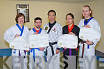 INSTRUCTORS CERTS: The first Irish students to receive their Han Moodo instructors certs and belt grading at CWS complex, Tralee on Sunday l-r: Maja Noszczyk, Phil Horgan, Young Suk, Jia O'Connell and Michael O'Connell.....
