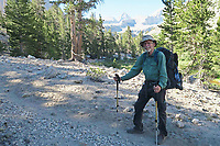 Courtesy photo<br /> Jim Warnock on the John Muir Trail