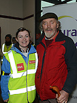 Valene McMullen Acting Sports Cordinator for Louth Local Sports Partnership and Sean McCormack walk leader for Operation Transformation national Walks pictured at the Drogheda walk.  Photo:Colin Bell/pressphotos.ie
