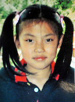 Tien Sia Dan, 8 years old was stolen along with her sister and kidnapped in China. This photograph shows Tien Sia Dan who is eight years old and was stolen along with her sister.  Girls in China are increasingly targeted and stolen as there is a shortage of wives as the gender imbalance widens with 120 boys for every 100 girls..PHOTO BY SINOPIX