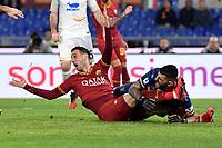 Nikola Kalinic of AS Roma , Mauro Vigorito of Lecce <br /> Roma 23/02/2020 Stadio Olimpico <br /> Football Serie A 2019/2020 <br /> AS Roma - Lecce<br /> Photo Andrea Staccioli / Insidefoto