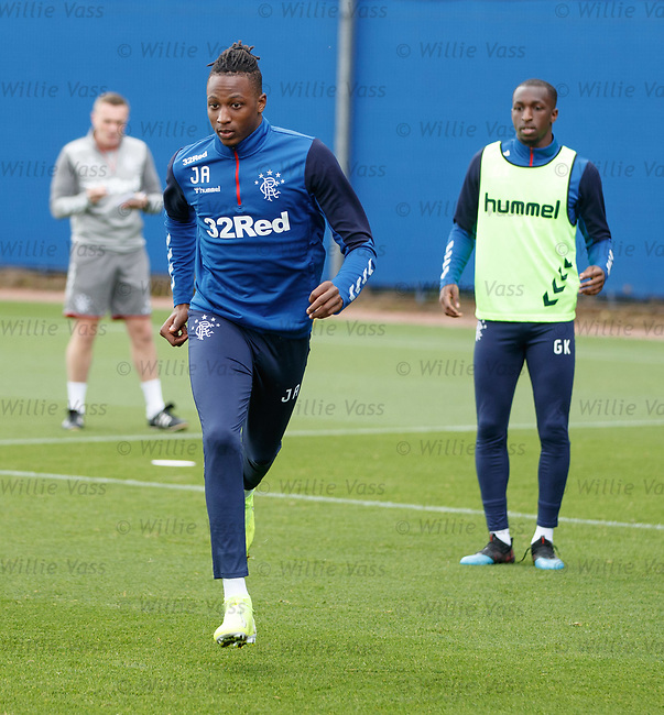 28.08.2019 Rangers training: Joe Aribo