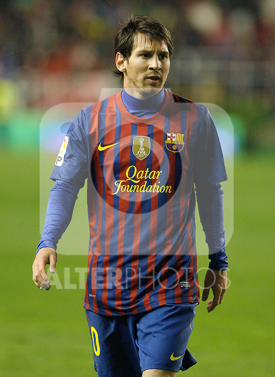 FC Barcelona's Leo Messi during La Liga match.April 29,2012. (ALTERPHOTOS/Acero)
