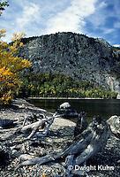 KN03-005a  Mt. Kineo on Moosehead Lake, Maine - driftwood on Pebble Beach