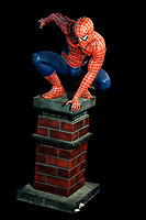 BNPS.co.uk (01202 558833)<br /> AdamPartridge/BNPS<br /> <br /> A large figure of Spider-Man<br /> <br /> A vast collection of 'weird and wonderful' memorabilia from a music venue that hosted early Beatles gigs has emerged for sale for close to £50,000.<br /> <br /> Lathom Hall in Liverpool was one of the best known clubs on the Merseybeat music scene in the late 1950s and early 1960s.<br /> <br /> Among their regular bands were the Beatles, although at that time they were known as the Silver Beets.<br /> <br /> Since those days the hall has adapted and is now an entertainment venue crammed full of pop culture memorabilia.