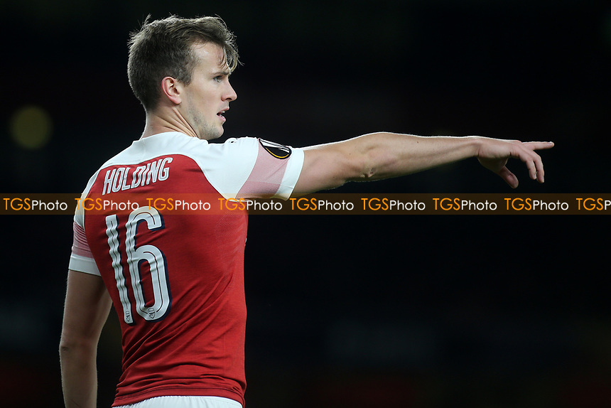 Rob Holding of Arsenal during Arsenal vs Sporting Lisbon, UEFA Europa League Football at the Emirates Stadium on 8th November 2018