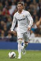 24.03.2012 SPAIN -  La Liga matchday 30th  match played between Real Madrid CF vs Real Sociedad (5-1) at Santiago Bernabeu stadium. The picture show Sergio Ramos (Spanish defender of Real Madrid)