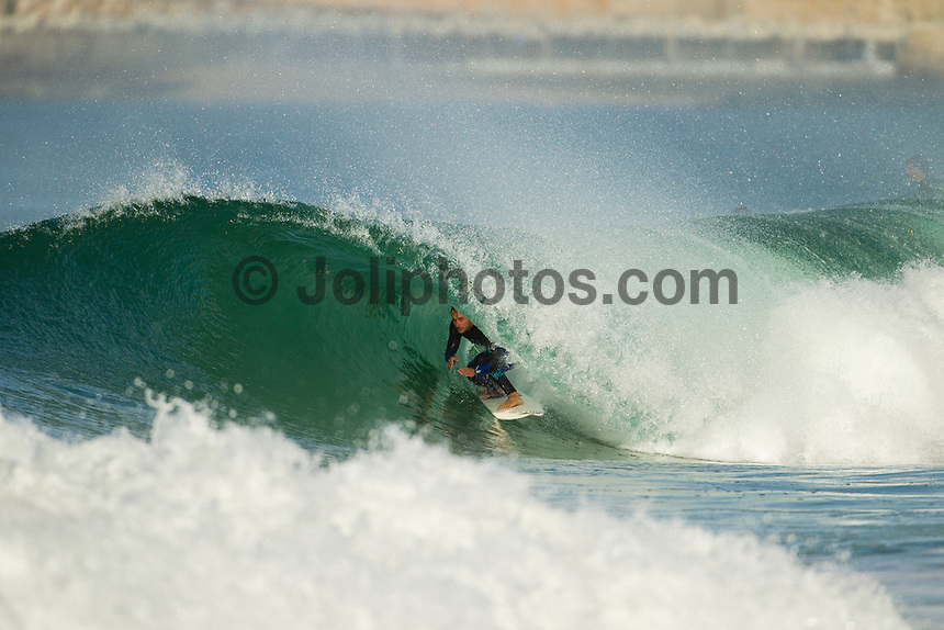 SUPERTUBOS, Peniche/Portugal (Monday, October 15, 2012) Josh Kerr (AUS). - The Rip Curl Pro Portugal was put on hold for most of the morning today giving some of the Top 34 a chance to free surf the waves on offer at Supertubes..Photo: joliphotos.com