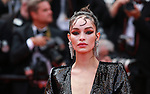 "72nd edition of the Cannes Film Festival in Cannes in Cannes, southern France on May 21, 2019. Red Carpet for the screening of the film ""Once Upon a Time... in Hollywood"" Brazilian model Luma Grothe on the red carpet.<br /> © Pierre Teyssot / Maxppp"