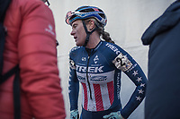 Katie Compton (USA/KFC Racing p/b Trek/Panache) after finishing 3th place.<br /> <br /> women's elite race<br /> Flandriencross Hamme / Belgium 2017