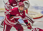 25 November 2014: University of Massachusetts Minutemen Defenseman Marc Hetnik, a Sophomore from Chestnut Hill, MA, in action against the University of Vermont Catamounts at Gutterson Fieldhouse in Burlington, Vermont. The Cats defeated the Minutemen 3-1 to sweep the 2-game, home-and-away Hockey East Series. Mandatory Credit: Ed Wolfstein Photo *** RAW (NEF) Image File Available ***