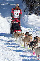 Trent Herbst on Long Lake at the Re-Start of the 2012 Iditarod Sled Dog Race
