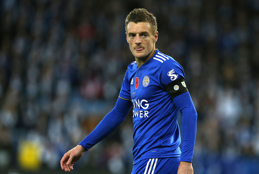 Leicester City's Jamie Vardy<br /> <br /> Photographer Stephen White/CameraSport<br /> <br /> The Premier League - Saturday 10th November 2018 - Leicester City v Burnley - King Power Stadium - Leicester<br /> <br /> World Copyright © 2018 CameraSport. All rights reserved. 43 Linden Ave. Countesthorpe. Leicester. England. LE8 5PG - Tel: +44 (0) 116 277 4147 - admin@camerasport.com - www.camerasport.com