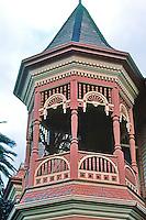 Ferndale CA:  Eastlake Style House--Cupola detail.  Photo '83.