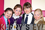 Alica Looney, Megan, Sarah O'Shea and Kayleigh Piggot ready to go on stage at the Killorglin Acting and Music academy extravaganva in the CYMS Killorglin on Sunday   Copyright Kerry's Eye 2008