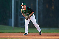 Dartmouth Big Green third baseman Justin Fowler (25) during a game against the Northeastern Huskies on March 3, 2018 at North Charlotte Regional Park in Port Charlotte, Florida.  Northeastern defeated Dartmouth 10-8.  (Mike Janes/Four Seam Images)