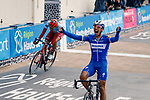 Philippe Gilbert (BEL) Deceuninck-Quick Step wins from Nils Politt (GER) Team Katusha Alpecin in the Roubaix Velodrome at the end of the 117th edition of Paris-Roubaix 2019, running 257km from Compiegne to Roubaix, France. 14th April 2019<br /> Picture: Thomas van Bracht/PelotonPhotos.com | Cyclefile<br /> All photos usage must carry mandatory copyright credit (&copy; Cyclefile | Thomas van Bracht/PelotonPhotos.com)