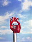 heart in shape of parking meter