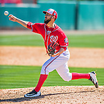 28 February 2016: Washington Nationals pitcher Rafael Martin on the mound during an inter-squad pre-season Spring Training game at Space Coast Stadium in Viera, Florida. Mandatory Credit: Ed Wolfstein Photo *** RAW (NEF) Image File Available ***