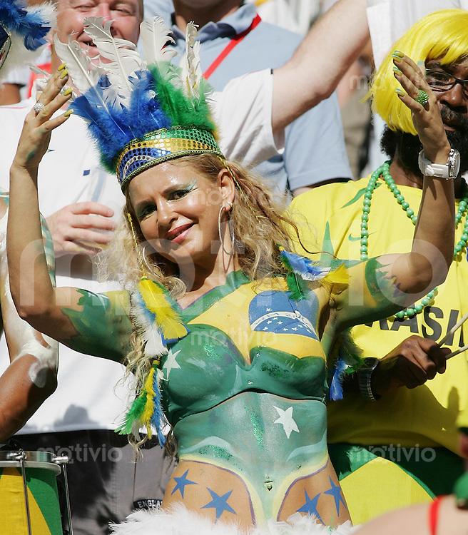 Fussball WM 2006 Vorrunde Brasilien - Australien Brasilianischer Fan