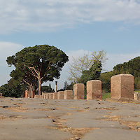 Decumanus Maximus, main street running from east to west, Ostia Antica, Italy. Picture by Manuel Cohen