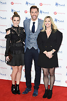 Lauren McQueen, Ross Adams and Alexandra Fletcher<br /> arriving for the Giving Mind Media Awards 2017 at the Odeon Leicester Square, London<br /> <br /> <br /> ©Ash Knotek  D3350  13/11/2017