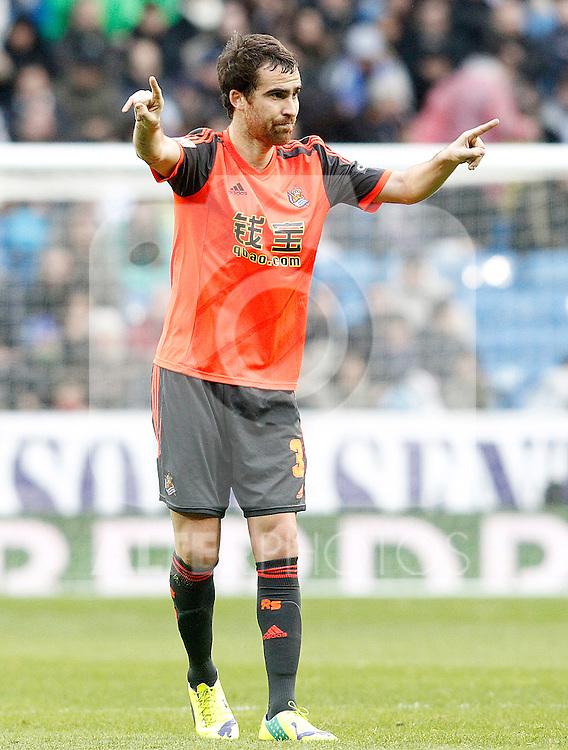 Real Sociedad's Mikel Gonzalez during La Liga match.January 31,2015. (ALTERPHOTOS/Acero)