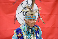 Seneca Native American Indian Elder, in full Regalia, New Jersey