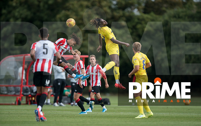 Tomi Adeloye during the behind closed doors friendly between Brentford B and Wycombe Wanderers at Brentford Football Club Training Ground & Academy, 100 Jersey Road, TW5 0TP, United Kingdom on 3 September 2019. Photo by Andy Rowland.
