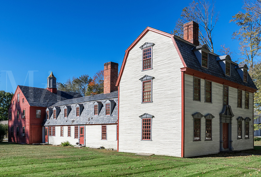 The historic Dwight House, Deerfield, Massachusetts, USA.