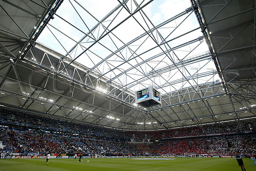 May 26, 2004: A general view of the Arena AufSchalke stadium before the UEFA Champions League Final between FC Porto and AS Monaco, Gelsenkirchen, Germany. FC Porto beat AS Monaco 3-0 Photo: Glyn Kirk/Action Plus...040526 football soccer venue venues stadiums stadia german