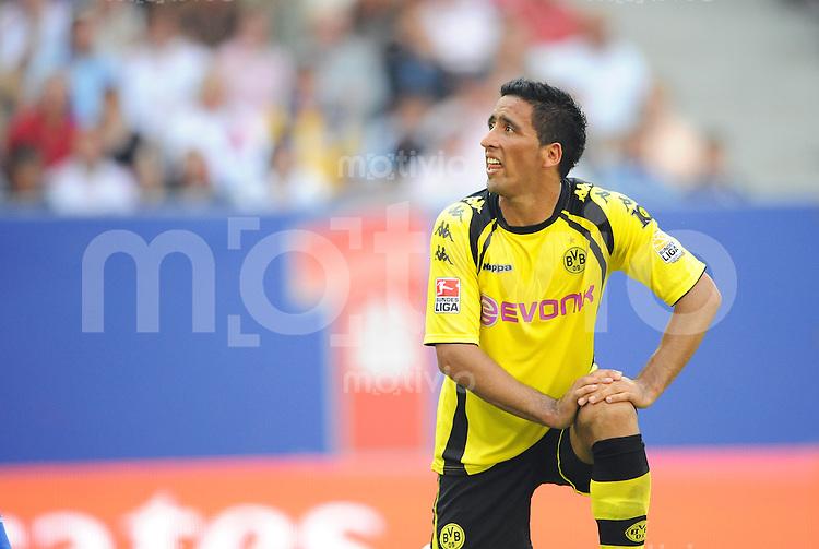FUSSBALL  1. BUNDESLIGA   SAISON 2009/2010   2. SPIELTAG Hamburger SV - Borussia Dortmund                       15.08.2009 Lucas BARIOS (Dortmund) enttaeuscht