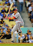 22 July 2011: Washington Nationals third baseman Ryan Zimmerman in action against the Los Angeles Dodgers at Dodger Stadium in Los Angeles, California. The Nationals defeated the Dodgers 7-2 in their first meeting of the 2011 season. Mandatory Credit: Ed Wolfstein Photo