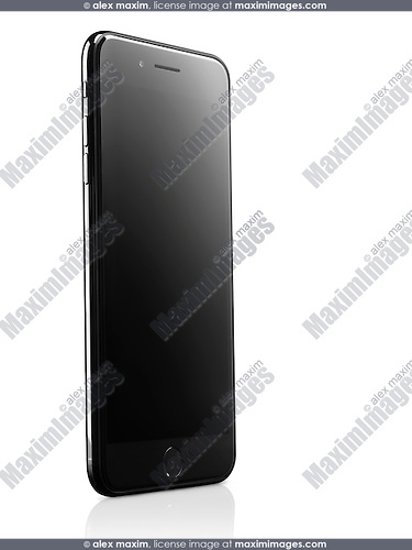 Apple iPhone 7 Plus with blank screen isolated on white background with clipping path