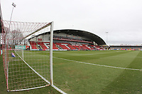 A general view of the Highbury Stadium,the home of Fleetwood Town<br /> <br /> Photographer Mick Walker/CameraSport<br /> <br /> The EFL Sky Bet League One - Fleetwood Town v Scunthorpe United - Saturday 26th January 2019 - Highbury Stadium - Fleetwood<br /> <br /> World Copyright © 2019 CameraSport. All rights reserved. 43 Linden Ave. Countesthorpe. Leicester. England. LE8 5PG - Tel: +44 (0) 116 277 4147 - admin@camerasport.com - www.camerasport.com