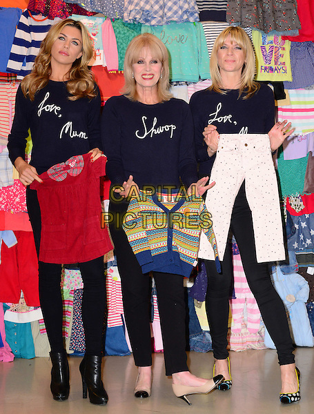 LONDON, ENGLAND - FEBRUARY 04: Abbey Clancy, Joanna Lumley &amp; Zoe Ball attend a photocall to launch the M&amp;S 'Love, Mum' shwopping campaign in conjunction with Oxfam at Marks &amp; Spencer Marble Arch on February 4, 2014 in London, England.<br /> CAP/JOR<br /> &copy;Nils Jorgensen/Capital Pictures