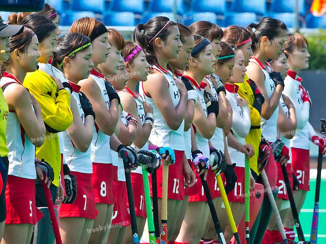 02/07/2015<br /> HWL Semi Final Antwerp Belgium 2015<br /> Japan v Belgium Women<br /> Japan<br /> Photo: Grant Treeby