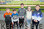 l-r  Keelan Best, Jamie O'Shea, Austin Fitzgerald, Paula Fitzgerald and Keith O'Shea enjoying  the Kerry GAA Night of Champions at the Kingdom Greyhound Stadium on Friday
